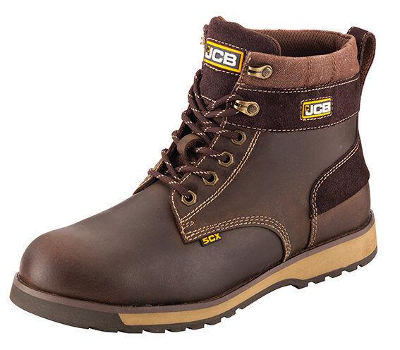 JCB Mens 5CX Brown Full Grain Lather Waterproof Upper Boot Various Size 5CX/T