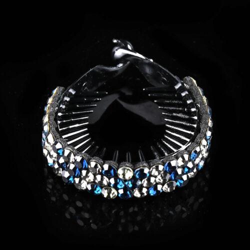 Haarspangen Vogelnest Twist Clip Kristall Haarkralle Haarnadeln mit Rhinestone
