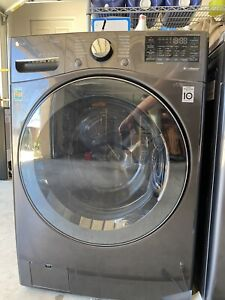 LG WM3900HBA 27 Inch Front Load Washer with 4.5 cu. ft. Capacity, Black Steel