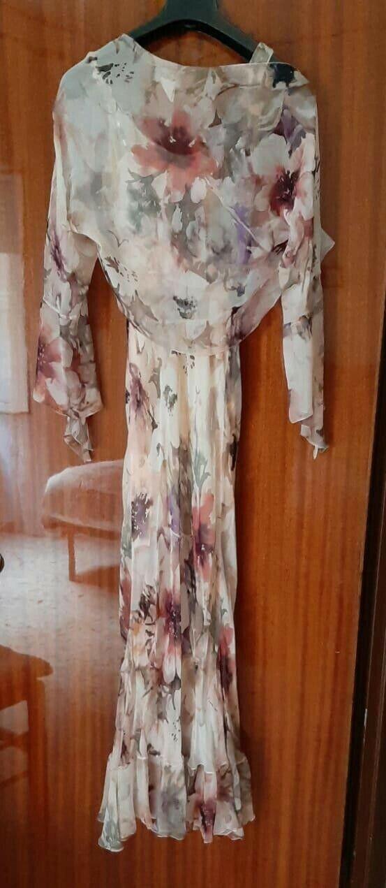 Abito cerimonia da donna lungo  con decorazione decorazione decorazione floreale in seta fd5877