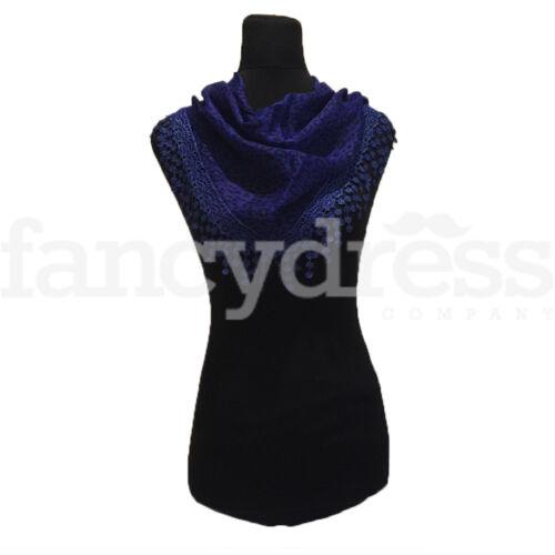 Animal Print Scarf Shawl Wrap Sarong Headscarf Secret Santa Blue Black NEW