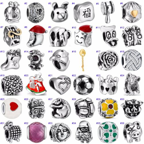 Hot Funny European Beads Holiday Jewelry Fit Fashion 925 Silver Charms Bracelet