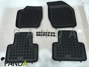 Details About Volvo Xc90 High Quality Rubber Floor Mats Interior Set 8 Pcs Genuine Clips
