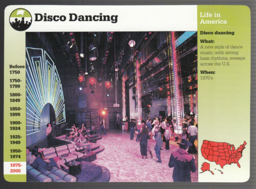 DISCO DANCING Studio 54 New York PICTURE HISTORY GROLIER STORY OF AMERICA CARD