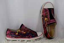 ED HARDY Fishbowl Graphic Low Rise Sneakers Womans Pink Size 7