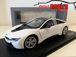 Paragon Models 1 18 Bmw I8 Crystal White W Frozen Grey Pa 97083
