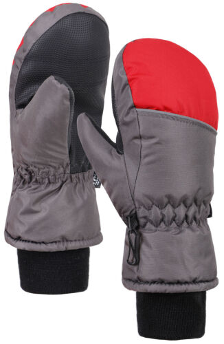 Boys Color Block Weather-Proof Thinsulate Snow Ski Mittens Long Snow Cuff