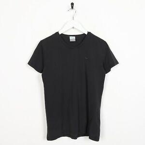 Vintage-Women-039-s-Nike-Small-Logo-T-Shirt-Tee-Noir-Large-L