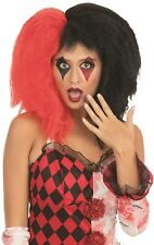 Red Bald Scary Clown Wavy Wig Halloween Cosplay Party Fancy Costume Hair HM-1084