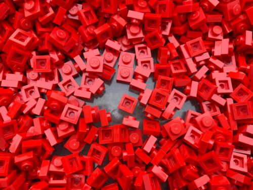 50 Or 100 Pieces LEGO 3024 RED Square 1x1 Pin Plate