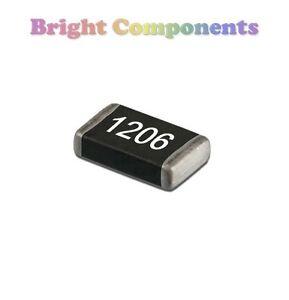 SMD-SMT-1206-Resistors-0-1M-Ohm-Range-10-22-47-100-220-470-R-K-M-Ohms