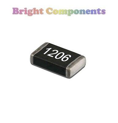 SMD/SMT 1206 Resistors 0 - 1M Ohm Range - 10, 22, 47, 100, 220, 470 R K M Ohms
