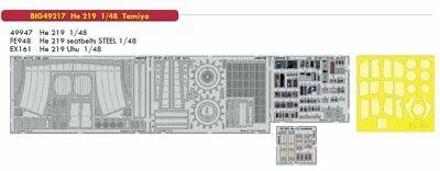 EDUARD EX634 Masking Sheet for Tamiya Kit He219 TFace in 1:48