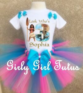 808d8b4d1 Image is loading Moana-Birthday-Personalized-Birthday-Tutu-Outfit-Party-Set-