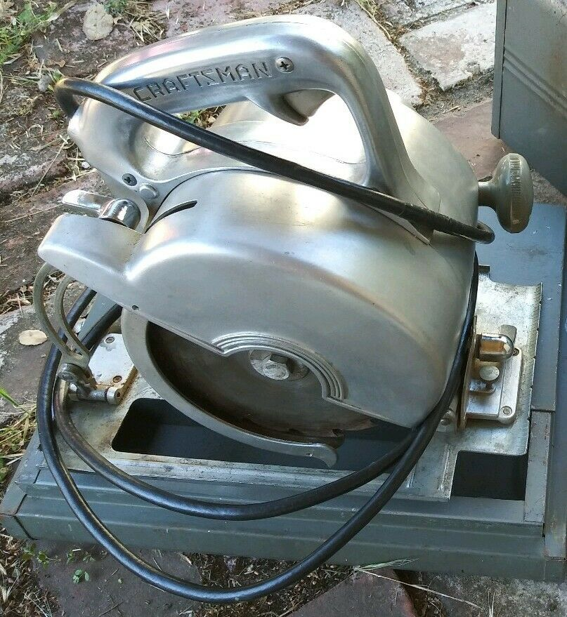 Vintage 1950s Craftsman 6 1 2  Circular Saw 20725530 with Case, Instructions +