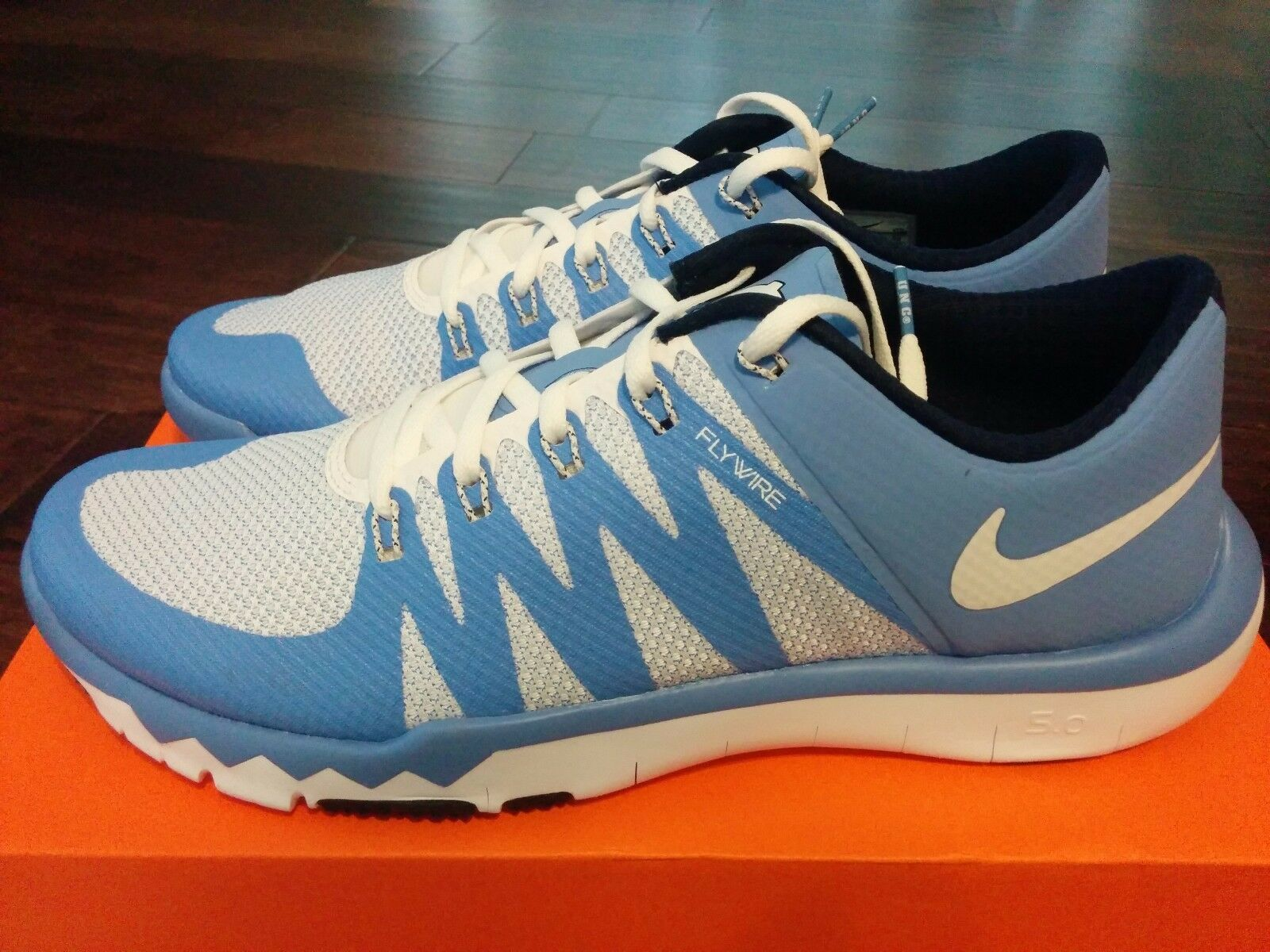 nike free 5.0 v6 north carolina college blue tarheels unc - college carolina - football selten 7,5 8677ca