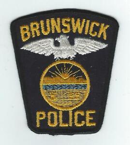 Brunswick ME Police Dept Vintage Cloth Uniform Patch