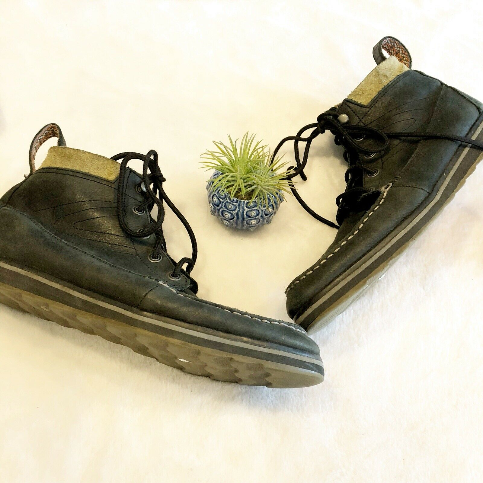 Tretorn Leather Boots shoes Charcoal Lace Up Mens 11