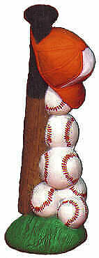 Ceramic Bisque BASEBALL STack Ready to Paint