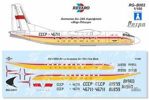 Revaro Decal An-24 Aeroflot Retro Firebird Veb Plasticart 1/100