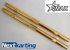 GO KART una coppia di M8 x 267 Gmax LEGA TRACK Bacchette Tony Kart Taglia