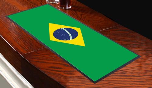 Brazil Flag Brasil Bar Runner Ideal For Home Cocktail Party Bar Mat Gift Green