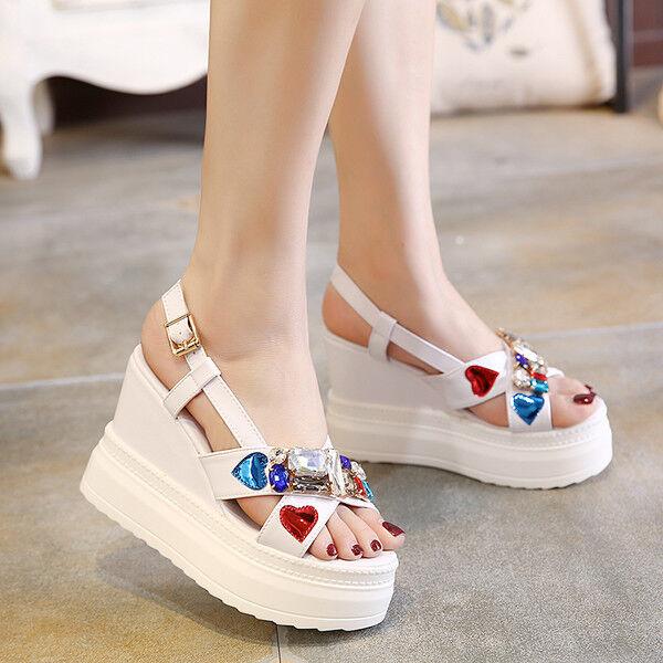 Sandali eleganti  bianco colorate 10 bianco platform  simil pelle eleganti 9940