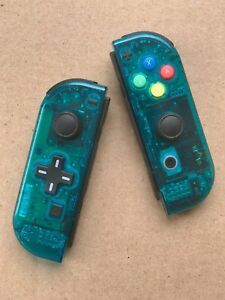 Details about Nintendo Switch Custom Joy Con Controller Joy-Cons Clear Ice  Blue D-PAD NEW