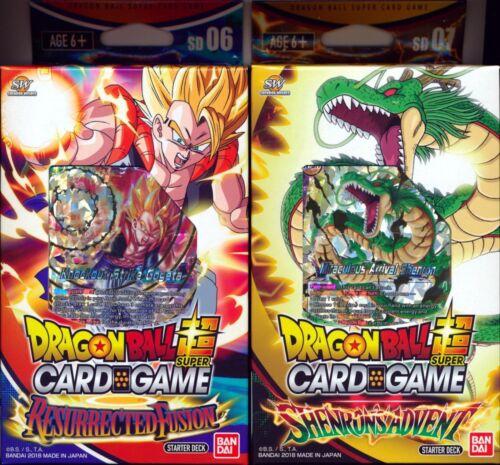 Dragon Ball Super 2x Starter Decks Shenron/'s Advent /& Resurrected Fusion NEW