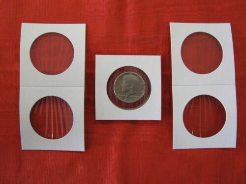 LARGE CROWN SIZE 1000 TOTAL. 42mm CARDBOARD COIN 2.5 X 2.5 MYLAR FLIPS