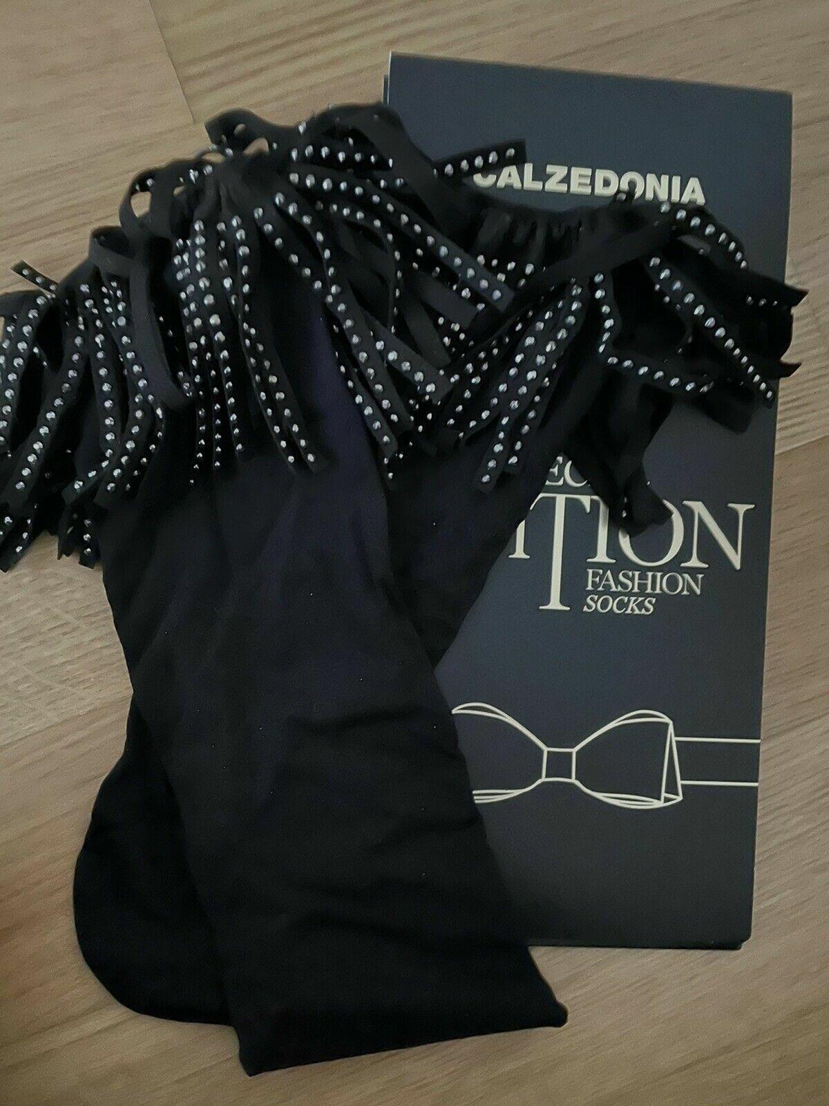 Calzedonia Fashion Socks neu schwarz Einheitsgröße MODZ0236 Strass Nero