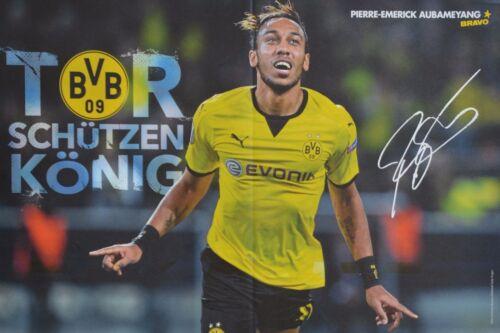 PIERRE-EMERICK AUBAMEYANG A3 Poster ca. 42 x 28 cm - Fußball Clippings NEU