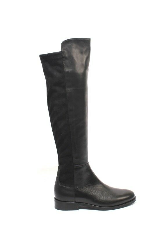 Mally 5482b Black Leather Stretch Over-the-Knee Zip-Up Riding US Boots 36 / US Riding 6 e6aaf4