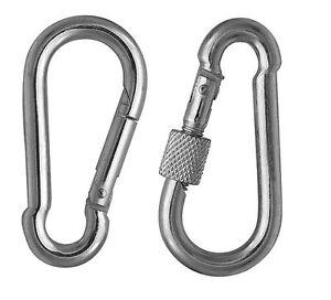 Carabiner-Clip-Spring-Snap-Hook-Karabiner-Galvanized-Steel-Zinc-Plated