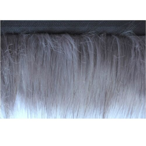 6 Colours Faux Fur Trim with Ribbon Edging 35mm Fringe Trimming Flange Fake