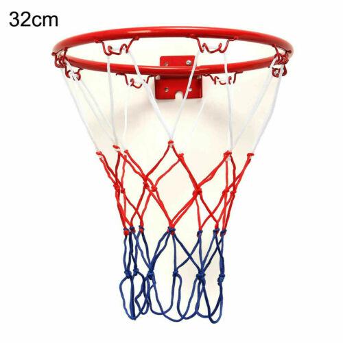 32cm 45cm Wall Mounted Hanging Basketball Goal Hoop Rim Metal Netting