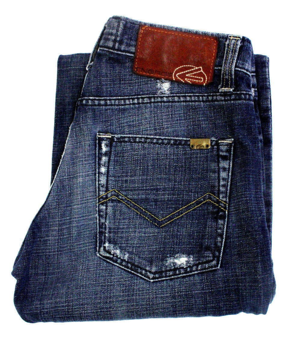 Energie Mens Jeans Joe Caputo Mid Rise Straight Leg Denim bluee  Size 30x34