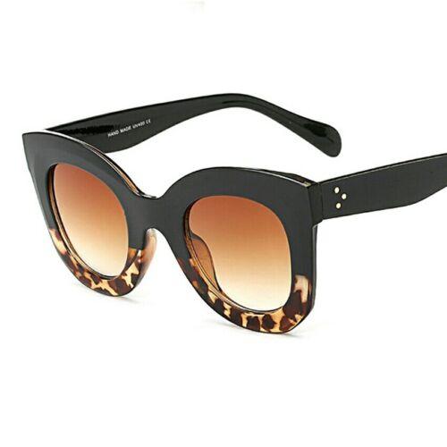Lunettes de soleil surdimensionné Cat Eye kimkardashian Style Plat Vintage New Women Fashion
