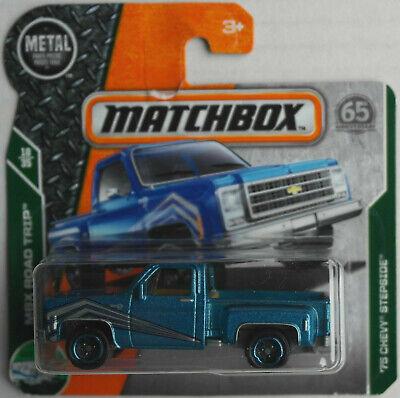Logisch Matchbox 1975 Chevy Chevrolet Stepside Pickup Truck Blaumetallic Neu/ovp Mbx ´75 Duftendes Aroma