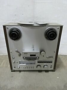 Vintage-80s-Akai-GX-625-4-Track-Stereo-Reel-to-Reel-Tape-Recorder-Music-Player
