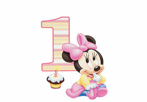 Remarkable Home Garden Baking Accs Cake Decorating Minnie Mouse First Funny Birthday Cards Online Inifodamsfinfo