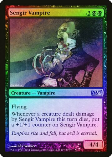 Sengir Vampire FOIL Magic 2012 M12 NM-M Black Uncommon MAGIC MTG CARD ABUGames