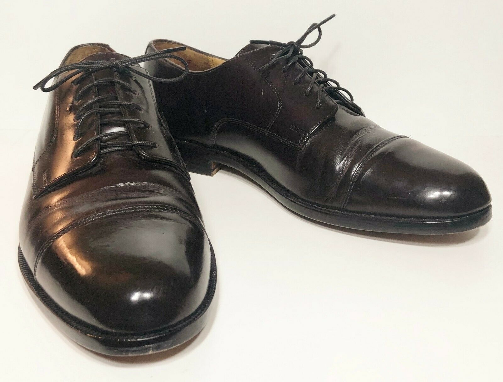 Cole Haan Oxfords Burgundy Leather Dress shoes 10 D Lace Up