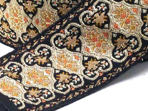 soldier Fabric Handmade - Persian Gold Black Souldier Guitar Strap