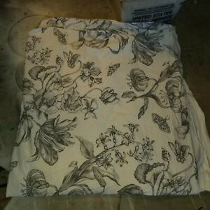 Pottery Barn Quot Pippa Floral Gray White Quot Full Queen Duvet