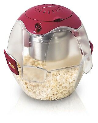 Hamilton Beach Party Popper 3-Step Easy-to-Use Popcorn Maker, Red   73310