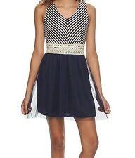 XS Dress Blue Stripe NEW NWT Speechless X SMALL Juniors 8th Grade Graduation 1 2