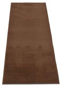 Custom-Size-Solid-Brown-indoor-Roll-Runner-Rug-Soft-Rug-Non-Skid-Slip-Resistant