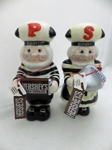 Hershey-Chocolate-Collectible-figurines-Salt-amp-Pepper-Shaker-set-2001-EUC