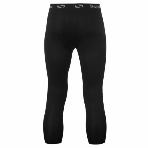 Sondico Mens Core 3//4 Base Layer Tights Elastic Training Sports Bottoms